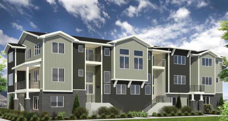 Exterior featured in the Lot 630 - Kensing By Woodside Homes in Salt Lake City-Ogden, UT