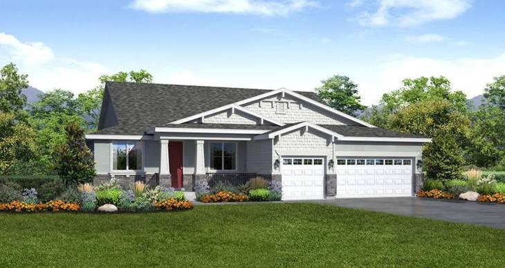 Elevation:Woodside Homes - Lady Gray- LTC