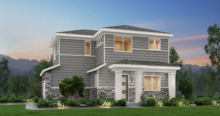 Elevation:Woodside Homes - Maple - SWS