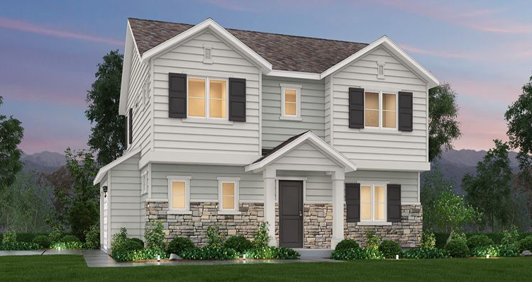 Exterior featured in the Aspen - SWS By Woodside Homes in Salt Lake City-Ogden, UT