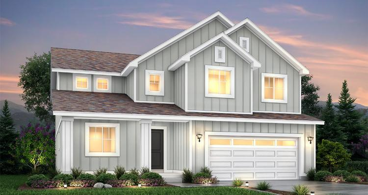 Exterior featured in the Hampton Estate - By Woodside Homes in Provo-Orem, UT