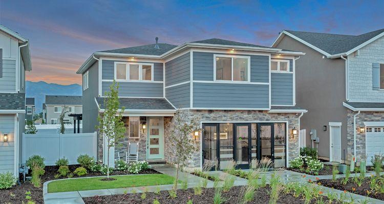 Exterior featured in the Gambel Oak - SWS By Woodside Homes in Salt Lake City-Ogden, UT
