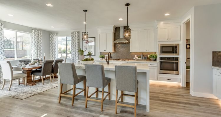 Kitchen featured in the Hampton Estate - By Woodside Homes in Provo-Orem, UT