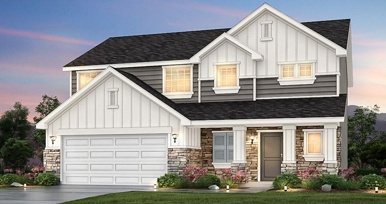 Exterior featured in the Lot 9935 - Amesbu By Woodside Homes in Salt Lake City-Ogden, UT