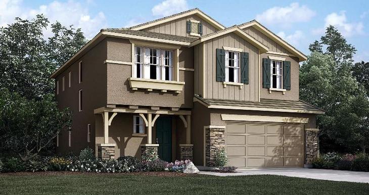 Elevation:Woodside Homes - Brighton Lot - 1055