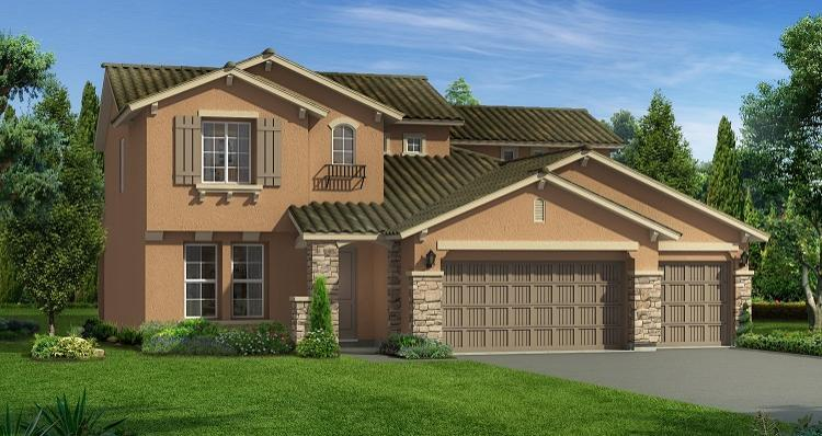 Exterior featured in the Acadia By Woodside Homes in Bakersfield, CA
