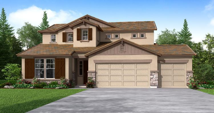 Exterior featured in the Turnberry By Woodside Homes in Visalia, CA