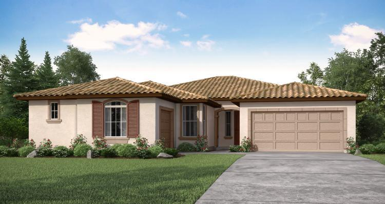 Exterior featured in the Oakmont By Woodside Homes in Visalia, CA