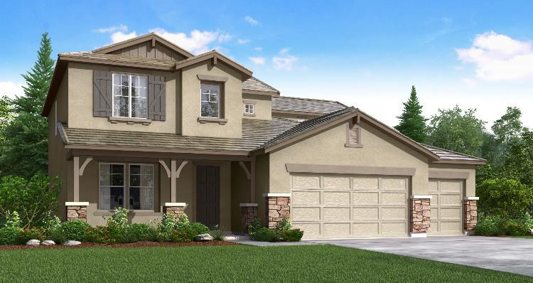 Exterior featured in the Pinehurst By Woodside Homes in Visalia, CA
