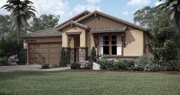 Elevation:Woodside Homes - Vozela - Lot 5048