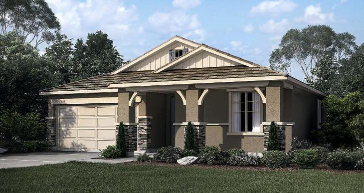 Elevation:Woodside Homes - Poppy