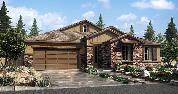 Elevation:Woodside Homes - Geranium