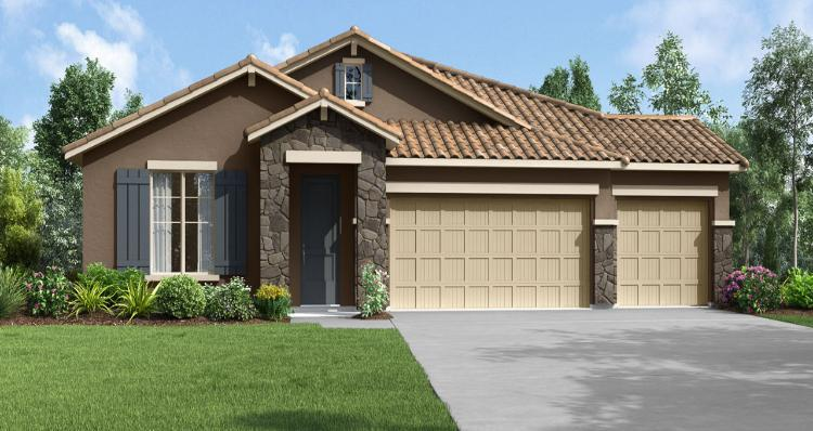 Exterior featured in the Olympic By Woodside Homes in Visalia, CA