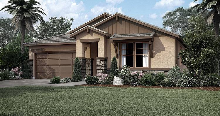 Exterior featured in the Biscayne By Woodside Homes in Visalia, CA