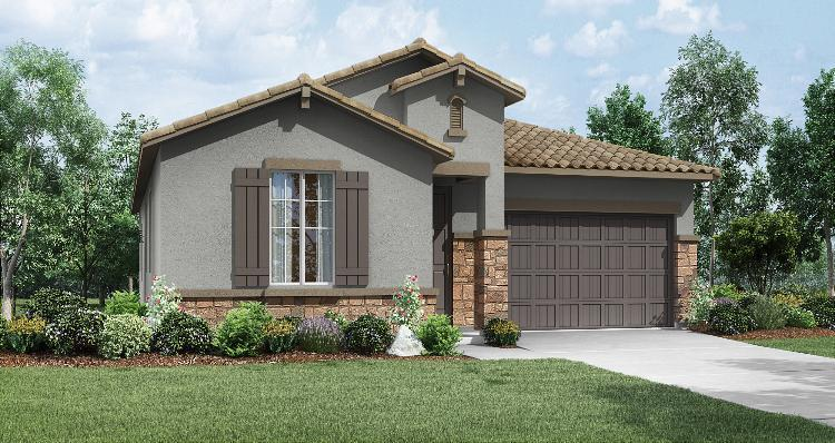 Exterior featured in the Glacier By Woodside Homes in Visalia, CA