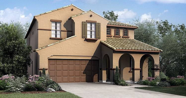 Exterior featured in the Sequoia By Woodside Homes in Visalia, CA
