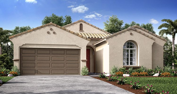 Exterior featured in the Lupine By Woodside Homes in Visalia, CA
