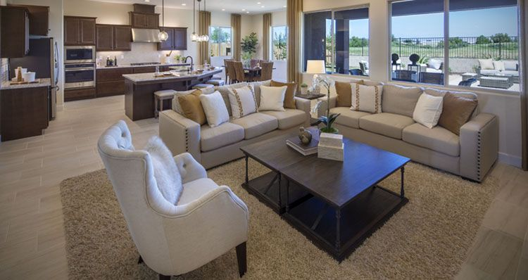 Living Area featured in the Oakmont By Woodside Homes in Visalia, CA