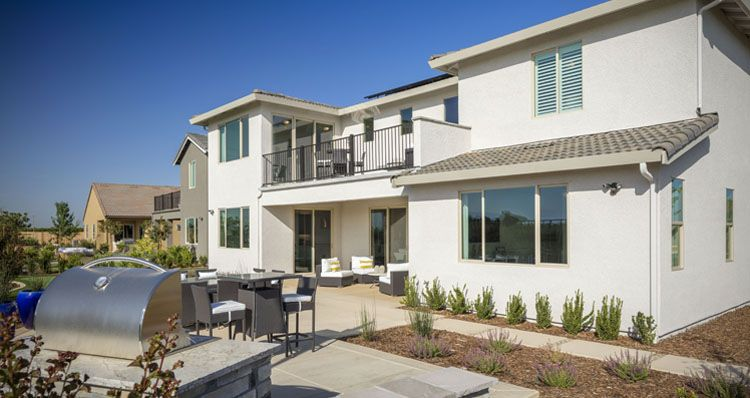 Exterior featured in the Olympia By Woodside Homes in Visalia, CA