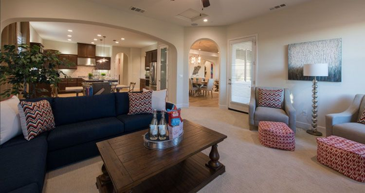 Living Area featured in the Hillsdale By Woodside Homes in Bakersfield, CA