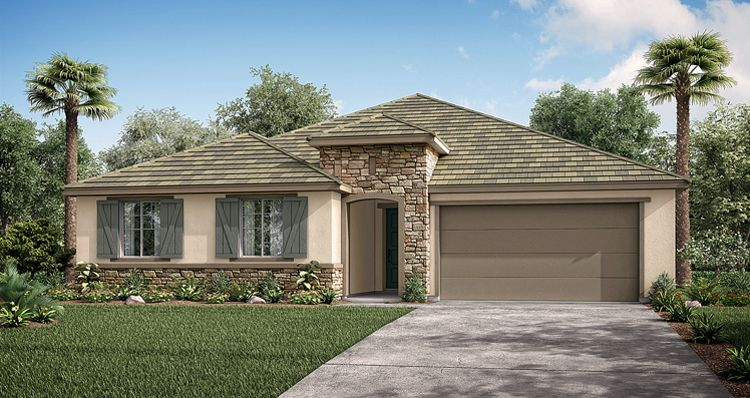 Exterior featured in the Violet By Woodside Homes in Fresno, CA