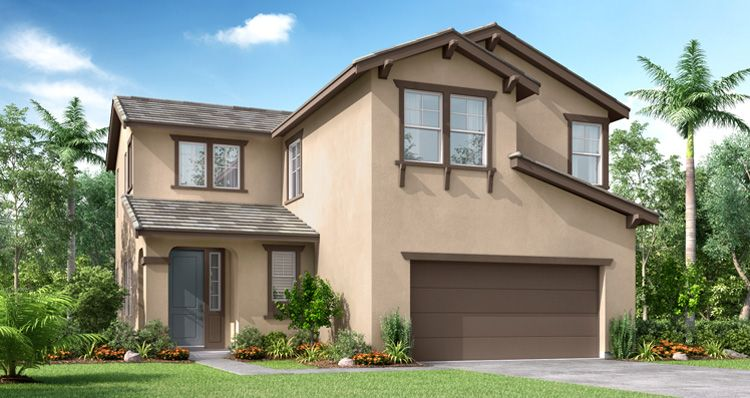 Exterior featured in the Wiltshire By Woodside Homes in Fresno, CA