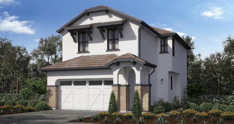 Exterior featured in the Plan 2 By Woodside Homes in Sacramento, CA