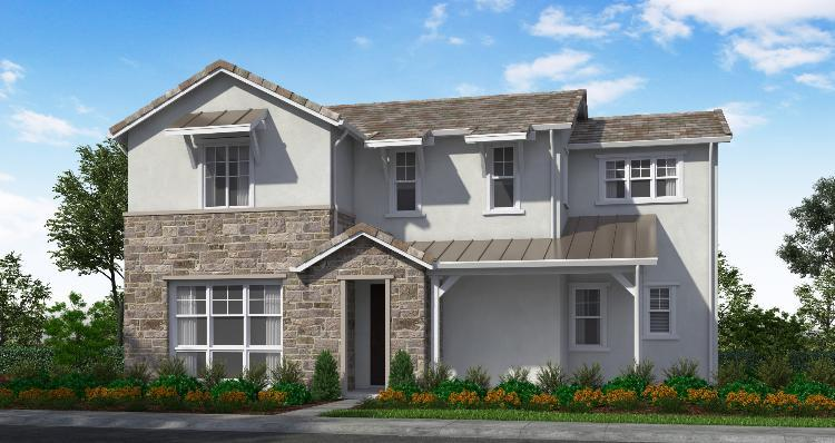 Exterior featured in the Plan 3 By Woodside Homes in Sacramento, CA