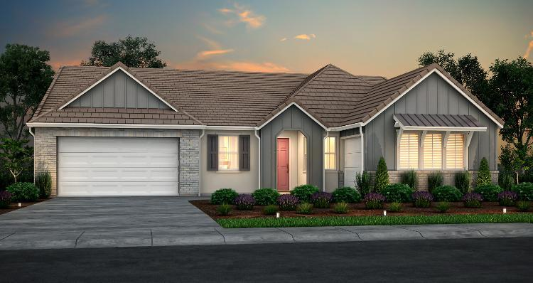 Exterior featured in the Plan 3 By Woodside Homes in Stockton-Lodi, CA