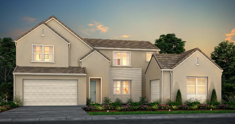 Exterior featured in the Plan 4 By Woodside Homes in Stockton-Lodi, CA