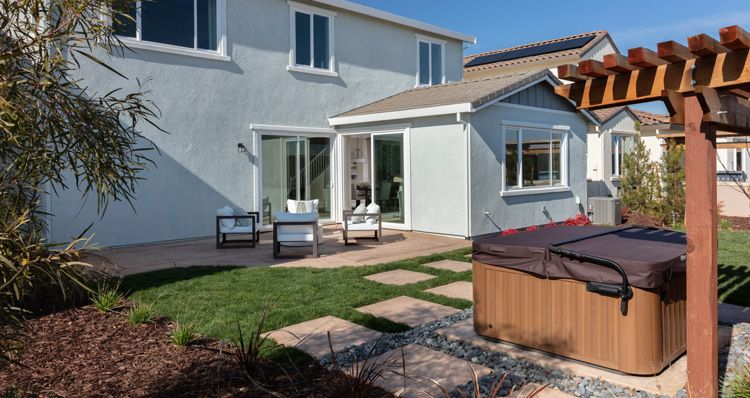Exterior featured in the Plan 4 By Woodside Homes in Sacramento, CA