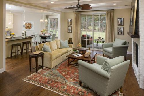 Greatroom-and-Dining-in-Meadows Collection-The Berkshire-at-Woodside Community-in-Aiken