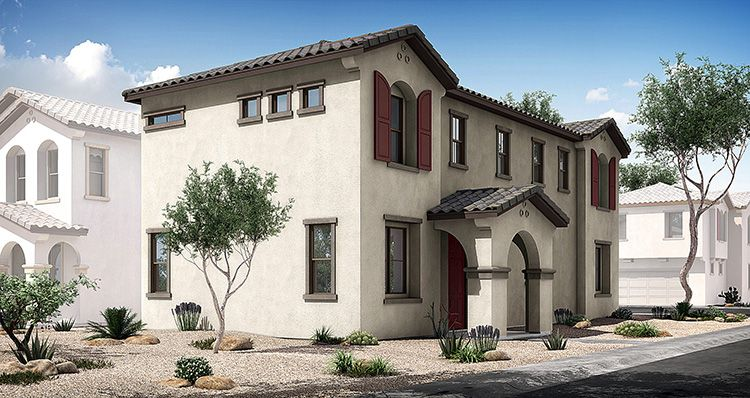 Exterior featured in the Townlet (Loop) By Woodside Homes in Phoenix-Mesa, AZ