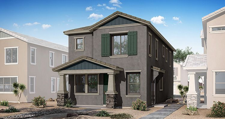 Exterior featured in the Hamlet By Woodside Homes in Phoenix-Mesa, AZ