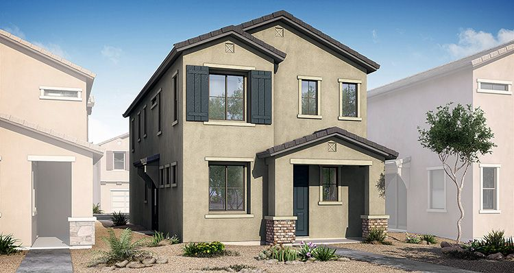 Exterior featured in the District By Woodside Homes in Phoenix-Mesa, AZ