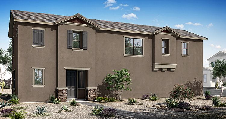 Exterior featured in the Region By Woodside Homes in Phoenix-Mesa, AZ