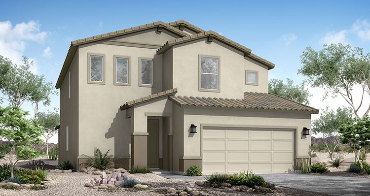 Exterior featured in the Liberty By Woodside Homes in Phoenix-Mesa, AZ