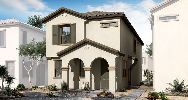 Exterior featured in the Townlet (Interior By Woodside Homes in Phoenix-Mesa, AZ