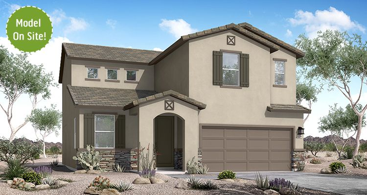 Exterior featured in the Yosemite By Woodside Homes in Phoenix-Mesa, AZ