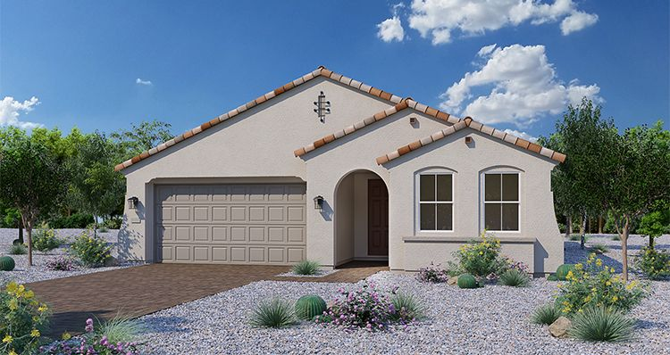 Exterior featured in the Mystic By Woodside Homes in Phoenix-Mesa, AZ