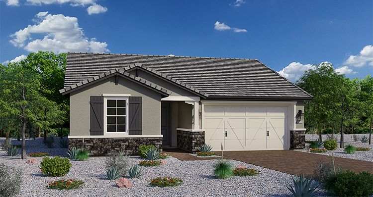 Exterior featured in the Noble By Woodside Homes in Phoenix-Mesa, AZ