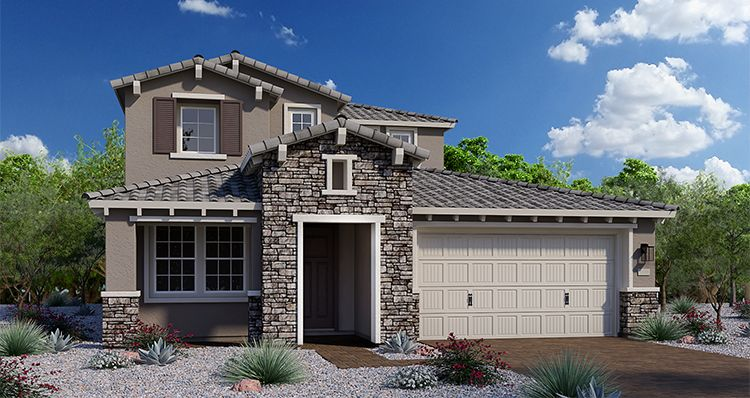 Exterior featured in the Chalice By Woodside Homes in Phoenix-Mesa, AZ