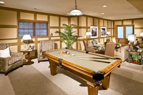 Recreation-Room-in-The Summerhill-at-The French Country Collection at The Links-in-Gettysburg