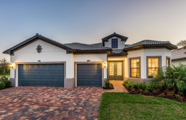 Stonewater:The Stonewater model, shown in Exterior FM2A at Winding Cypress in Naples