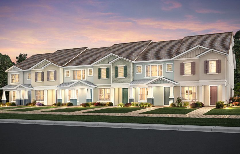 Exterior featured in the Foxtail - Interior Unit By DiVosta Homes in Sarasota-Bradenton, FL
