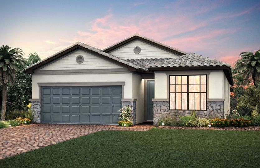Exterior featured in the Fox Hollow By DiVosta Homes in Palm Beach County, FL