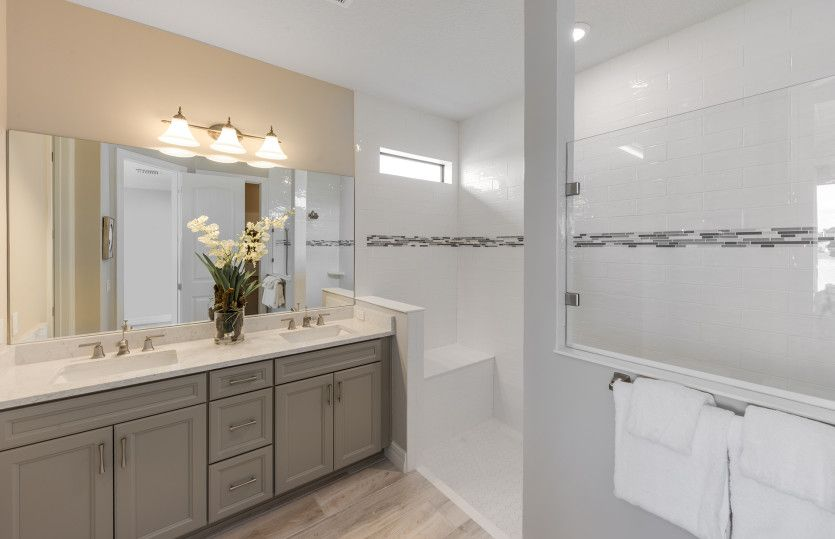 Bathroom featured in the Fox Hollow By DiVosta Homes in Palm Beach County, FL