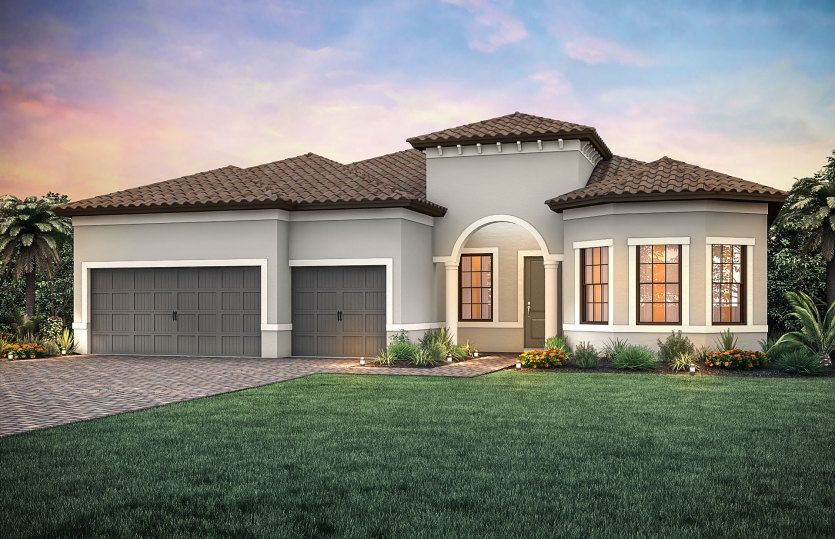 Exterior featured in the Pinnacle By DiVosta Homes in Palm Beach County, FL