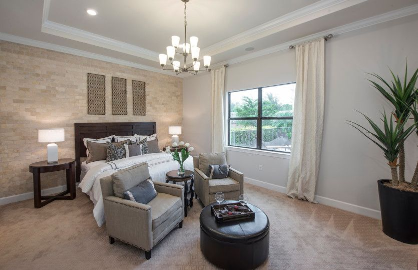 Bedroom featured in the Pinnacle By DiVosta Homes in Palm Beach County, FL