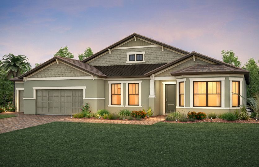 Exterior featured in the Camelot By DiVosta Homes in Palm Beach County, FL